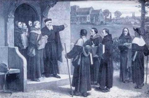John Wycliffe speaking to Lollard preachers.