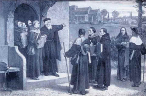 John Wycliffe speaking to Lollard preachers.