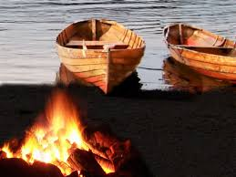 Shore-boats and fire