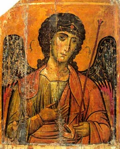 St. Michael the Archangel, icon from St. Catherine's Monastery, Mt. Sinai, 13th century