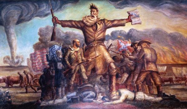 John the Baptist, Tragic Prelude, by John Steuart Curry (Kansas State Capitol in Topeka)