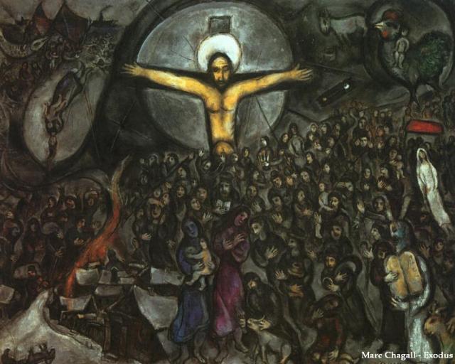 Crucifixion, Exodus - Chagall
