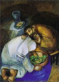 Footwashing and Eucharist, Chagall-2