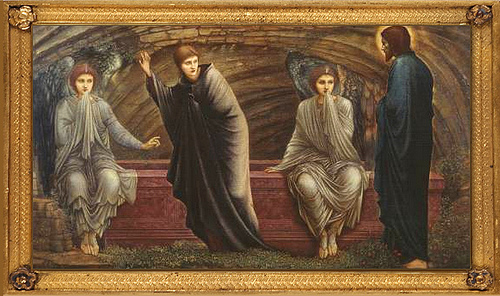 Resurrection - Sir Edward Coley BURNE-JONES 'The Morning of the Resurrection' 1886 oil on canvas, Tate Gallery