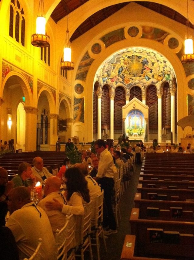 Dinner in Trinity Cathedral, Miami - North America Deans' Conference, May 2014