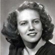 Frances Sutton, young