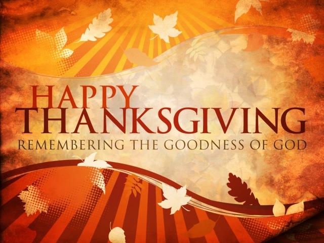 Thanksgiving-God's goodness