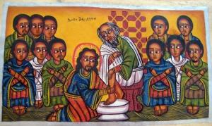 Footwashing, Ethiopian