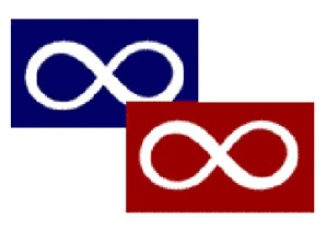 Flag, Metis, Blue and Red together
